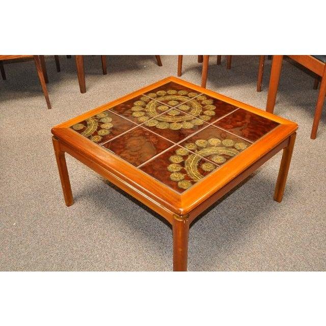 Teak & Tile Coffee Table C.1970 - Image 3 of 8