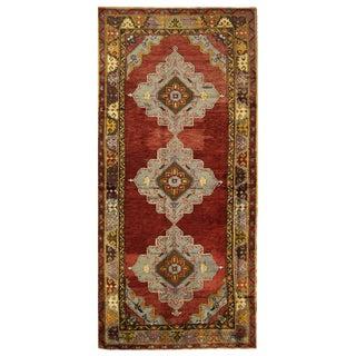 Vintage Turkish Oushak Rug - 4'8'' x 11'3''