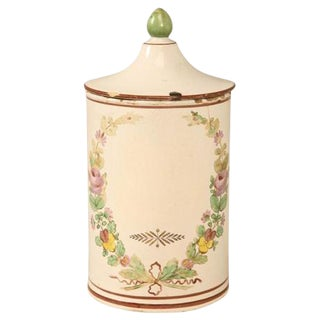 French Hand-Painted Apothecary Jar