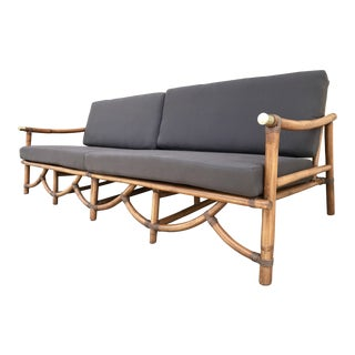 Vogue Mid Century Rattan Sectional Sofa