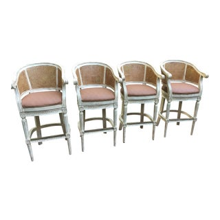 4 Swivel Bar Stools by Pama of High Point, Nc