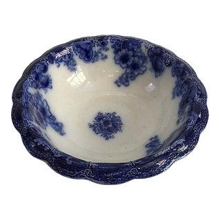 Circa 1880 Antique English Flow Blue Bowl