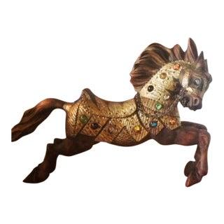 Wooden Handcarved Bejeweled Horse