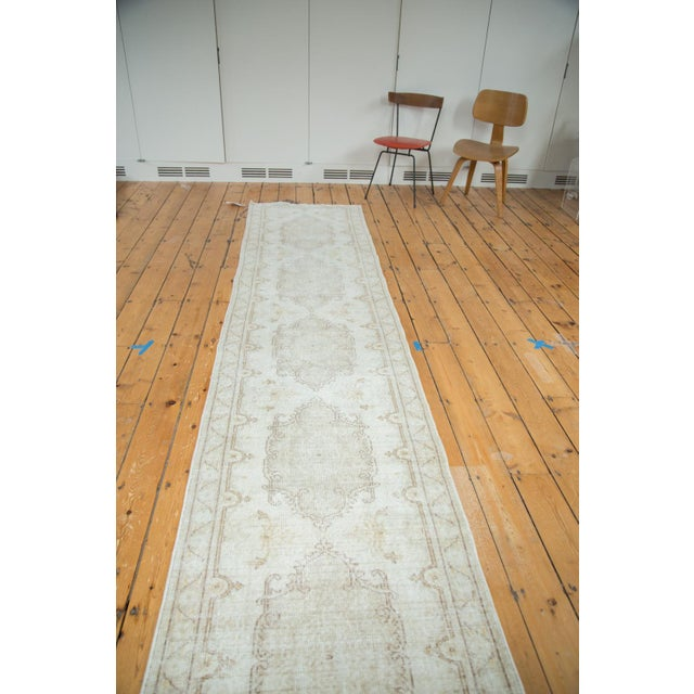 "Distressed Oushak Rug Runner - 2'8"" X 13' - Image 3 of 8"