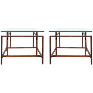 Rosewood Side Tables - A Pair