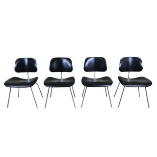Charles & Ray Eames for Herman Miller Ebony DCM Chairs - Set of 4