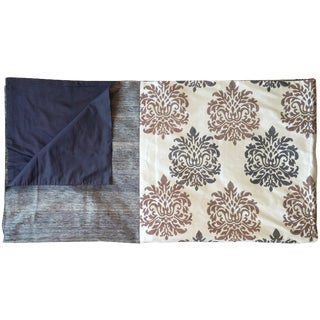 Block-Printed Silk Coverlet