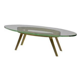Brass Coffee Table in the Manner of Fontana Arte