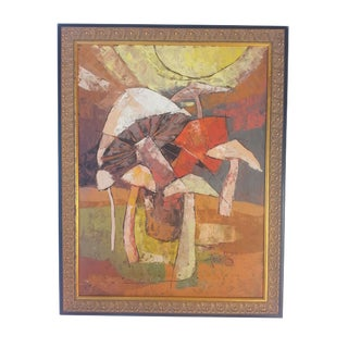 "1980s ""Mushrooms"" Painting by Ferullo"