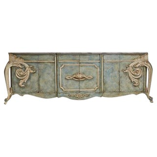 Grand Finely Detailed Faux-Painted Karges Style Buffet
