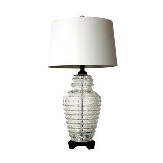 Vintage Beehive Cut Crystal Lamp