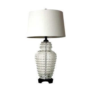 Vintage Beehive Cut Crystal Lamp