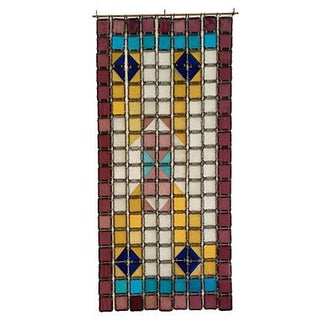 Antique French Stained Glass Window Panel