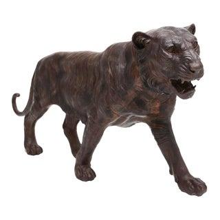 Lifesize Bronze Tiger Sculpture