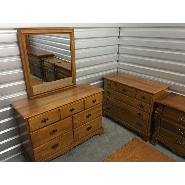 Solid Maple Dresser & Mirror - Image 6 of 6