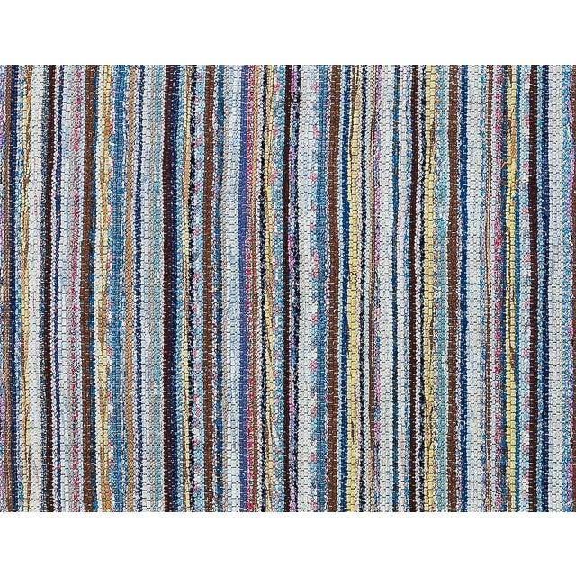 "Vintage Scandinavian Handmade Rug - 2'2"" x 9'3"" - Image 8 of 9"