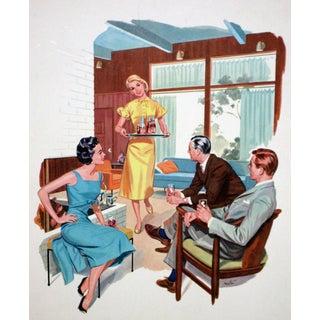 Conrad Moulton 1950's Mid-Century Pepsi Ad Giclee Print