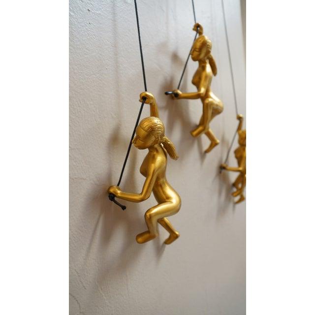 Climbing Man Girl Gold Wall Art - Set of 4 - Image 5 of 6