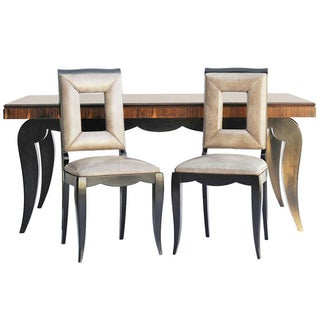 Art Deco Dining Table & 8 Chairs - Style of Leleu