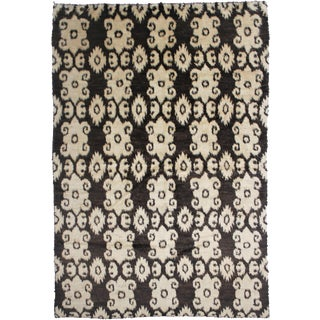 """Aara Rugs Inc. Hand Knotted Ikat Rug - 9'8"""" X 7'4"""""""