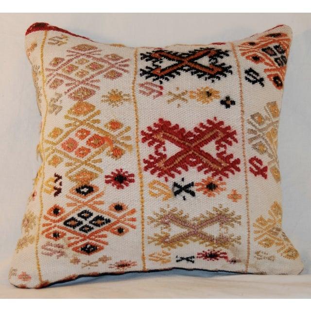 Vintage Square Handmade Bohemian Kilim Pillow - Image 2 of 5