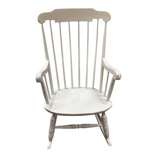 Vintage White Rocking Chair