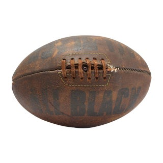 All Black Vintage Leather Rugby Football