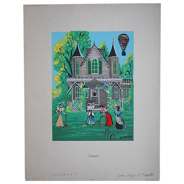 Vintage Victorian Silkscreen Print - Image 1 of 3