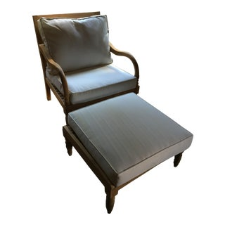 Ceylon Teak Lounge Chair and Ottoman