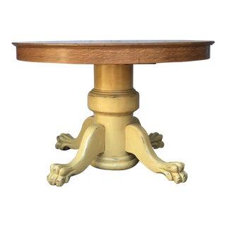 Farmhouse Oak Pedestal Table