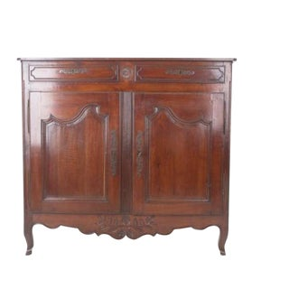 French Early 19th Century Tall Dark Cherry Buffet
