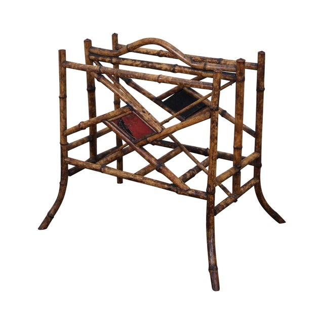 Antique Bamboo Magazine Stand - Image 1 of 8