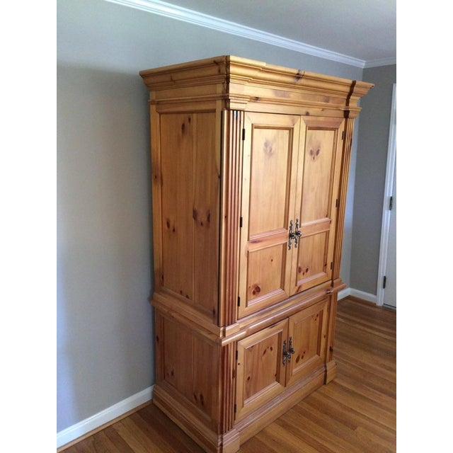 Solid Wood Computer Armoire ~ Solid wood armoire chairish