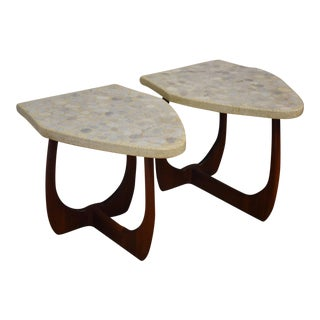 Harvey Probber Terrazzo End Tables - A Pair