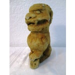 Image of Mid-Century Cast Cement Foo Dogs - A Pair