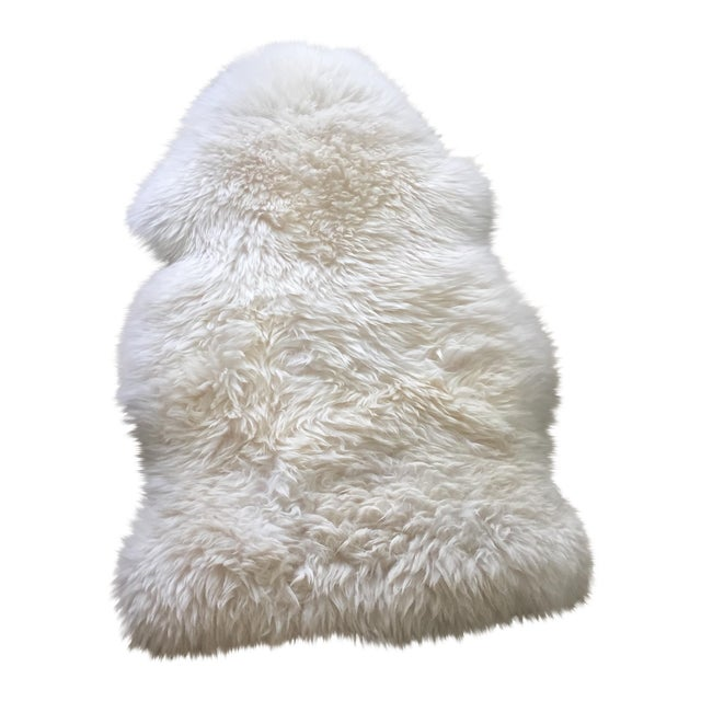 White Ivory Fur Rug - 2' x 3' - Image 1 of 5