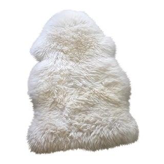 White Ivory Fur Rug - 2' x 3'