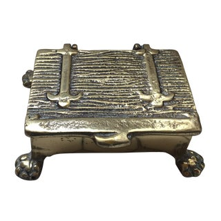 Mid-Century Brass Treasure Chest