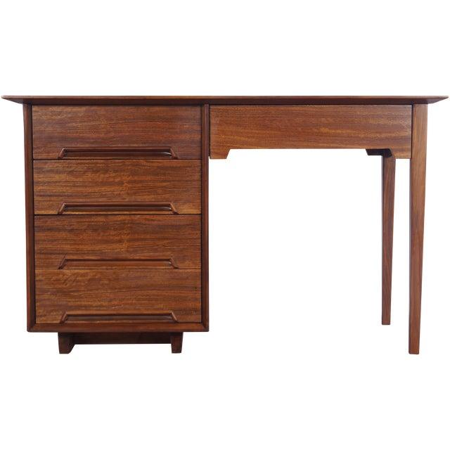 Image of Vintage Mahogany Desk by Milo Baughman for Drexel