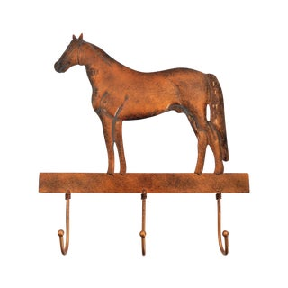 Copper Horse Wall Mounted Coat Hooks