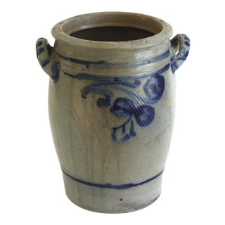 Antique Westerwald German Stoneware Crock