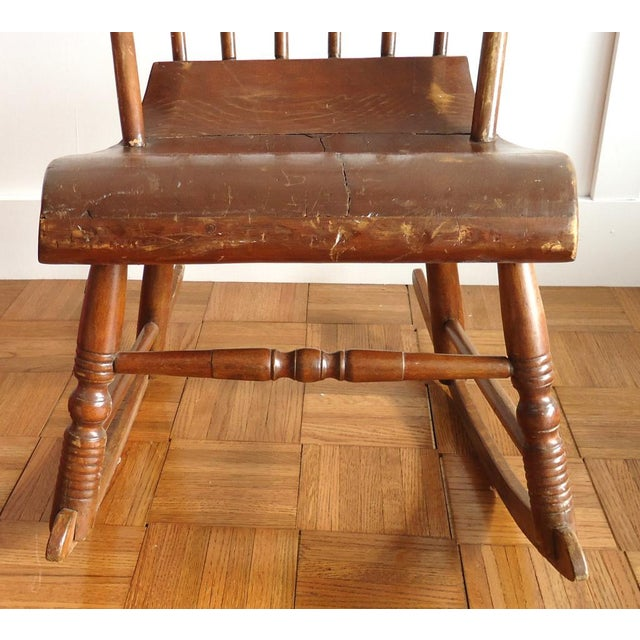 Antique Primitive Rocking Chair - Image 5 of 8