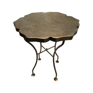 Lotus Shape Brass End Table