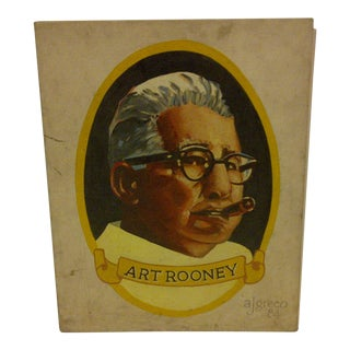 """Original Painting """"Art Rooney"""" by A.J. Greco"""