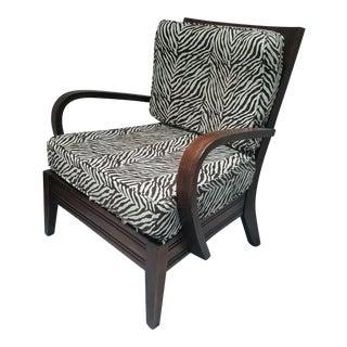 Mid-Century Zebra Print Chair