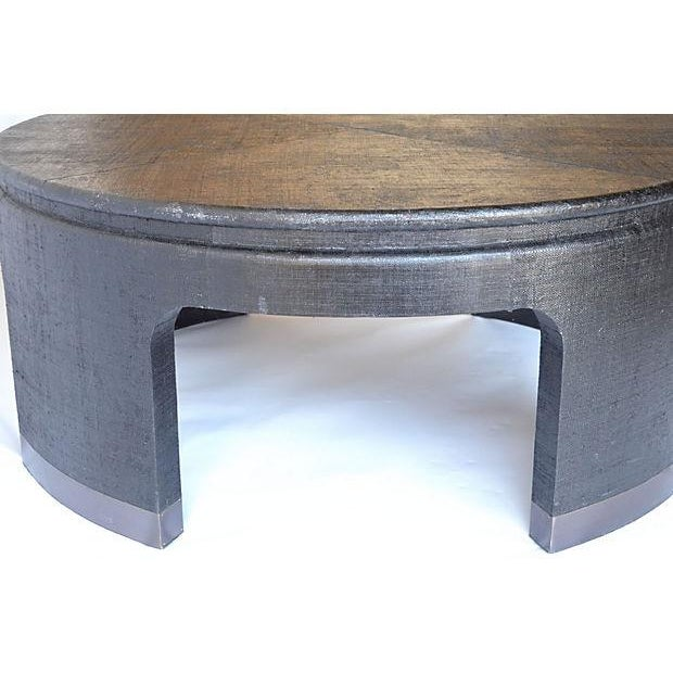 Dubois Round Black & Gold Cocktail Table