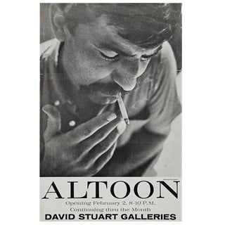 Very Rare John Altoon Poster Photographed by William Claxton