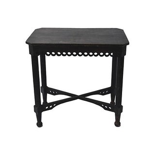 Antique French Table With Decorative Skirt