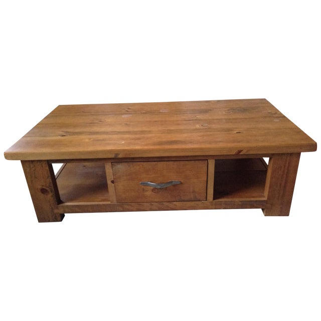 Solid Walnut Wood Coffee Table - Image 1 of 11
