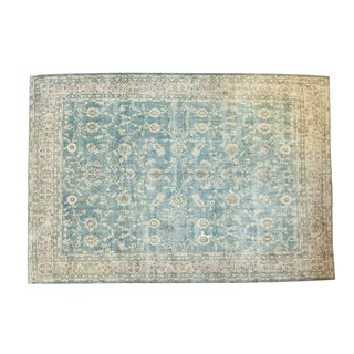 "Vintage Distressed Oushak Carpet - 8'6"" x 12'4"""